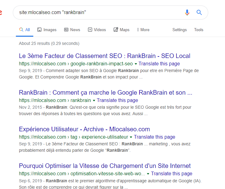 Mlocalseo maillage interne