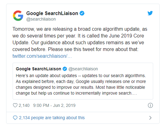 mise à jour du Google E-A-T