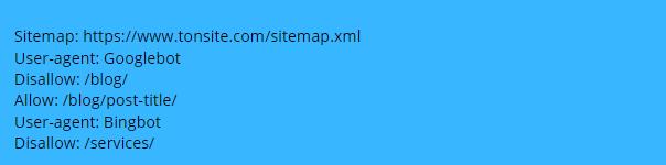 Sitemap - robots.txt