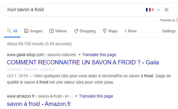 Opérateurs de recherche Google