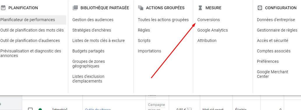 Google ads suivi de conversions