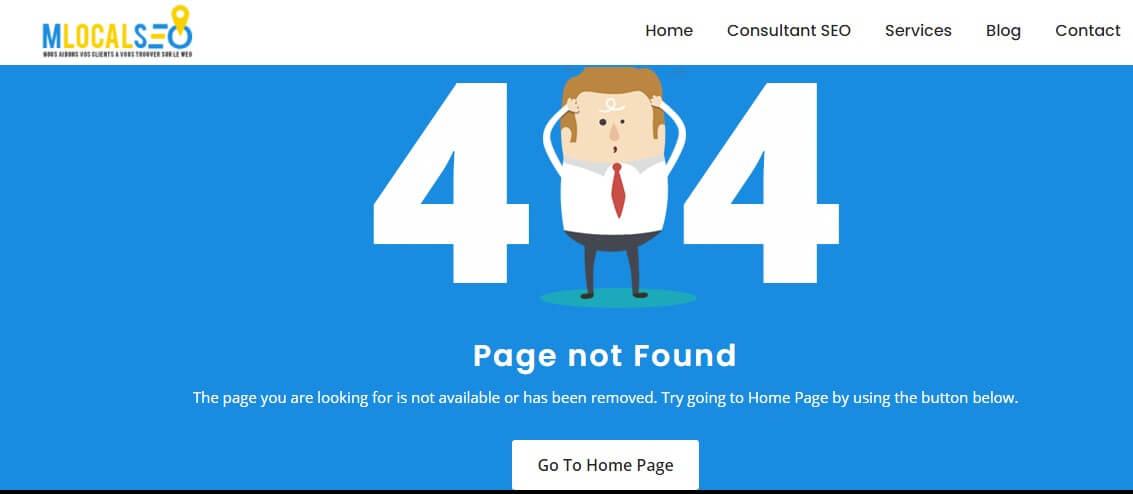 Landing pages 404